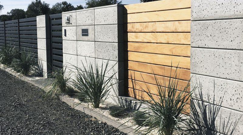 ogrodzenie z bloczków betonowych